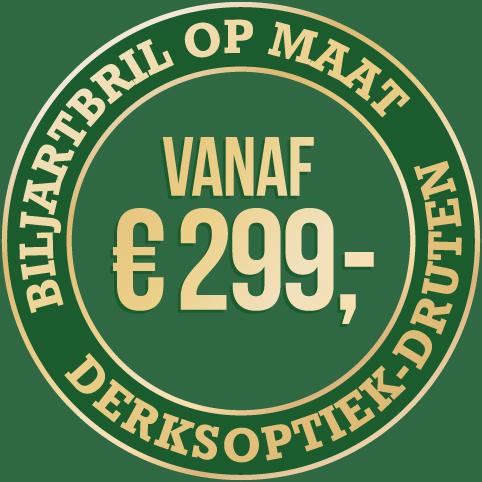 Biljartbril op maat vanaf 299 euro