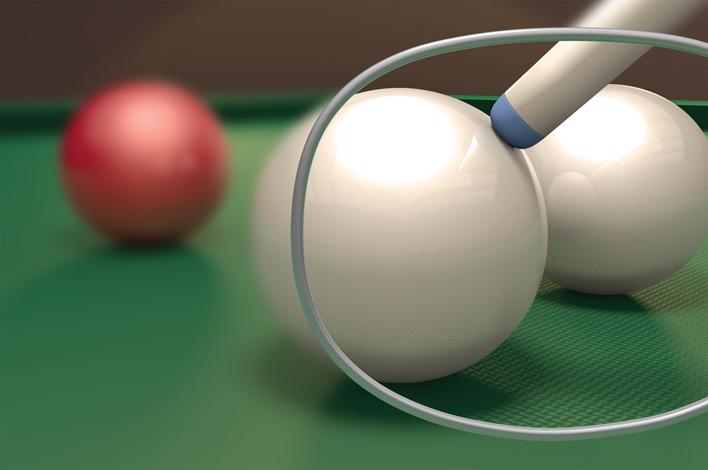 De biljartbril van Derks Optiek & Hoortechniek Druten